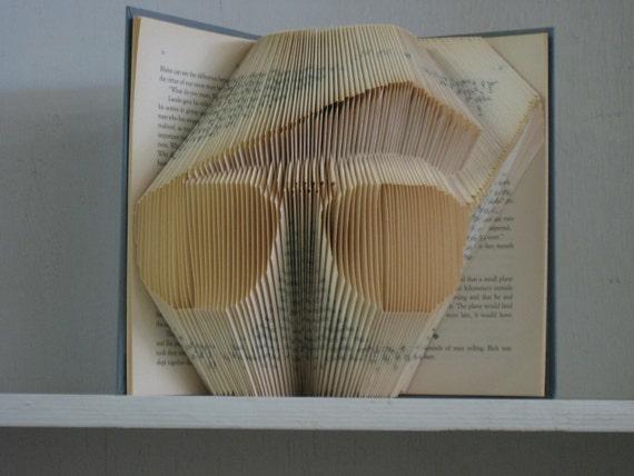 READY TO SHIP - Eyeglasses Folded book art sculpture - teacher librarian optician gift