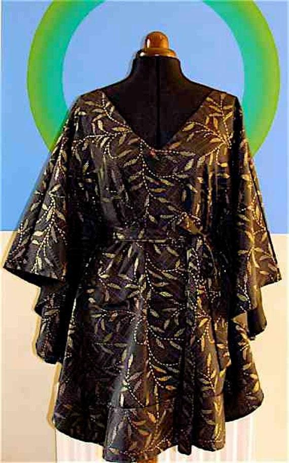 Afro-butterfly dress Black