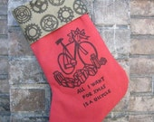 ALL I WANT FOR XMAS IS A BICYCLE Christmas Stocking