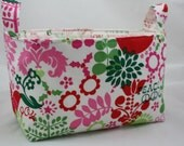 Fabric bin Organizer Storage basket Holiday Peace 10 x 5.5 x 6