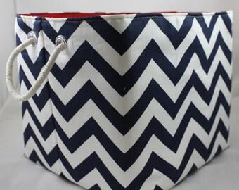 Storage bin, ZigZag bin, Choose your color combinations Rope handles