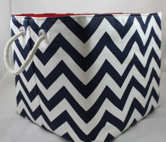 Storage bin, ZigZag bin, Choose your color combinations Rope handles