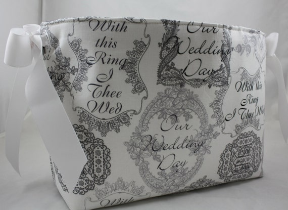 Storage Bin, Wedding gift, Wedding Basket, Card bin, Michael Miller Mr ...