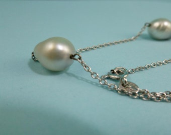 14k Pearl Necklace High Quality Uno A Erre