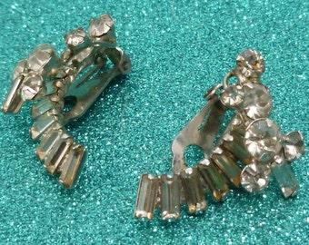 50% OFF SALE Layered White Rhinestone Earrings