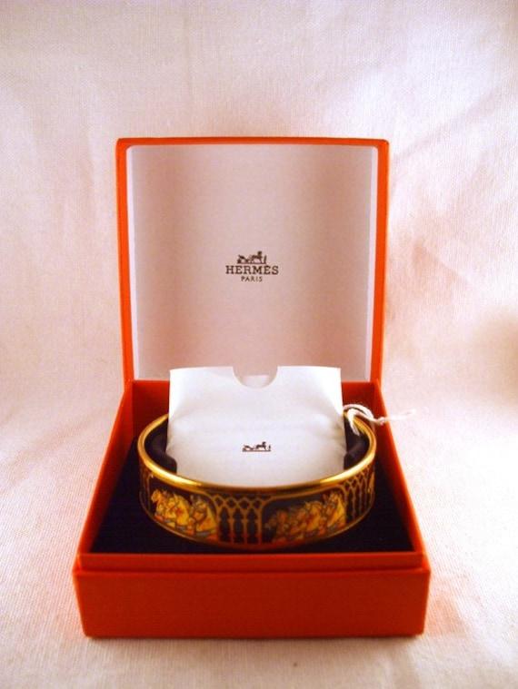Hermes Enamel Horse Bangle Bracelet FREE SHIPPING