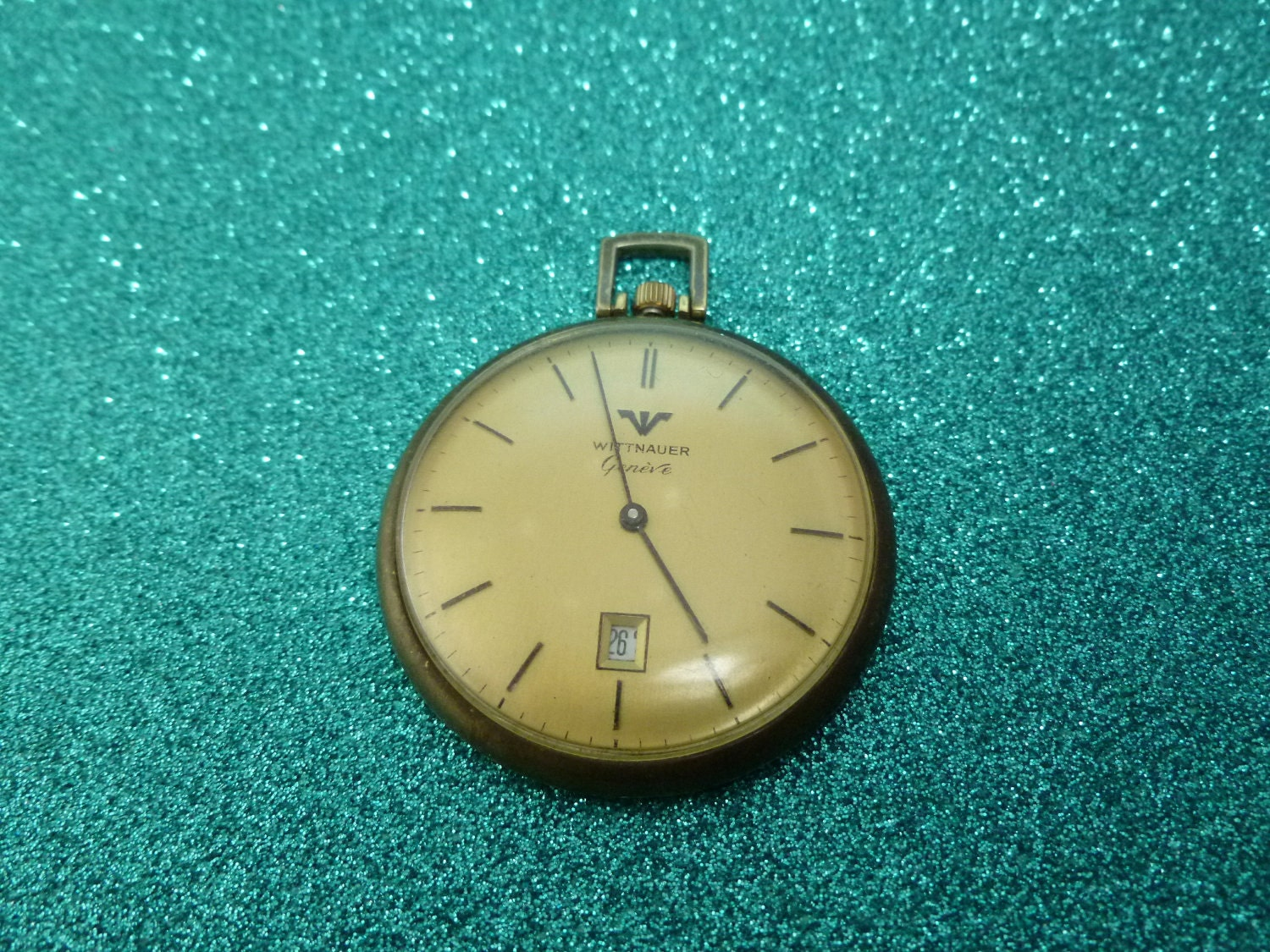 1950s wittnauer longines pocket gold tone engraved free