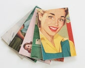 Vintage Magazine Envelopes: Housewives, Upcycled Gift Card Envelopes Handmade from Old Ads and Photos, Set of 5