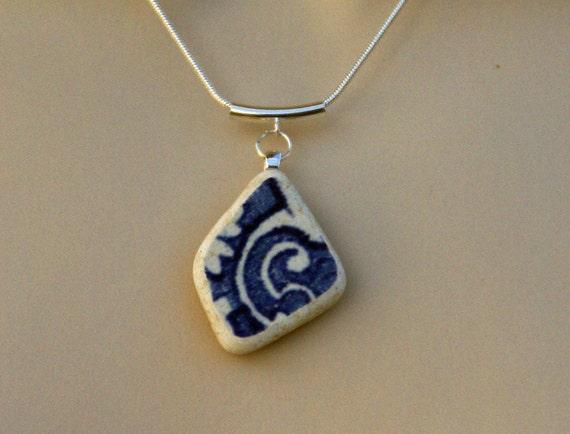 Cobalt Beach Pottery Necklace