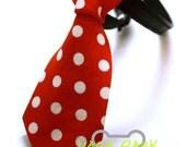 NARA PARK Designer Pet Dog & Cat Micky Red Dot Bow Tie/Collar