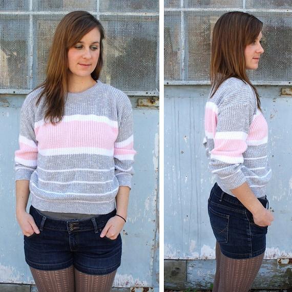 S A L E  Vintage Pastel Colorblock Sweater