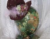 Fall Autumn Burlesque Gothic Lolita Mini Top Hat