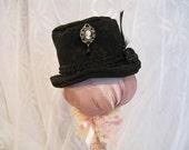 Handmade Dollfie Cameo Black Top Hat