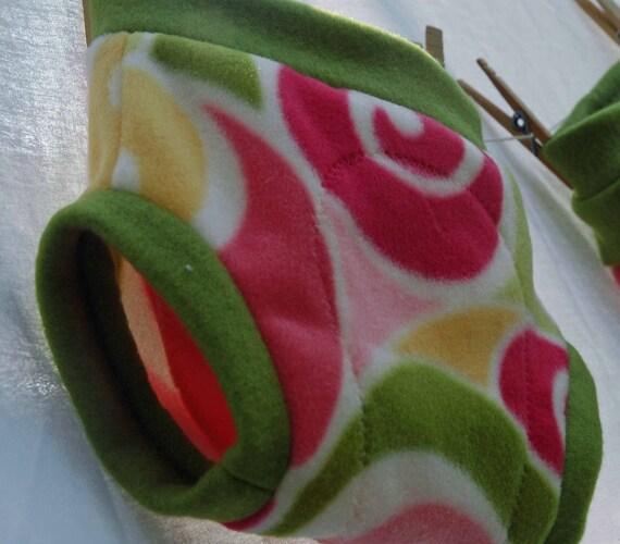 Anit-pill Swirls Rosie Fleece Diaper  Cover  NB,S,M,L