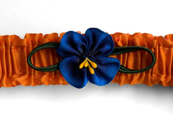 Flapper Garters with Blue Flowers