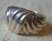 SALE on Vintage Sterling Silver Contemporary Ring