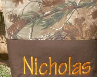 Personalized monogram camo diaper bag /baby shower gift