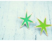 Shades of Green Synergy Earrings