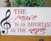 Sign, Custom Music Sign, Home Sign. Perfect gift for the Music Lover for Birthday, Anniversary or Holiday. Gift Ideas.