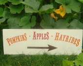 Vintage Fall, Autumn, Thanksgiving or Country Wedding Sign. Gift Idea for a Housewarming, Wedding or Bridal Shower. 8 X 24 inches.