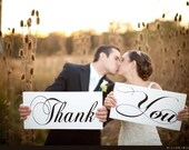 Thank You Signs for your Thank You Cards. Two (2) signs, 8 X 16 inches. Featured on Etsy Finds. Wedding Signs, Reception Signs.