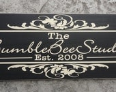 Business Sign, Personalized, Custom Business Advertisement with Logo Sign for Vendors and Craft Shows. 10 X 24 inches.