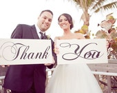Thank You Signs, Wedding, Photography, Bridal & Engagement Signs, Thank You Cards. Two (2) Signs, 8 X 16 inches. As seen in Style Me Pretty.