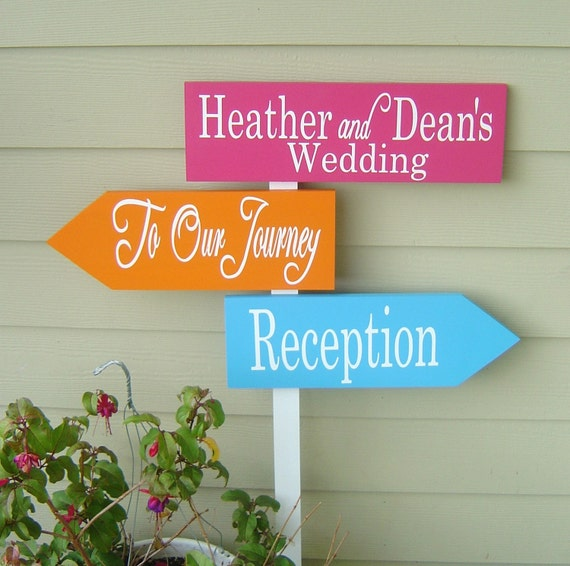 Wedding Signs.  Directional Signs with Arrows.  Handmade, personalized, made to order, wooden signs will make Your Day perfect.