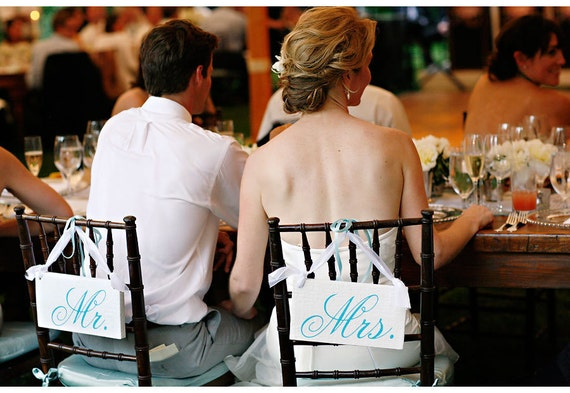 Items Similar To Mr And Mrs Chair Signs And Or Thank And