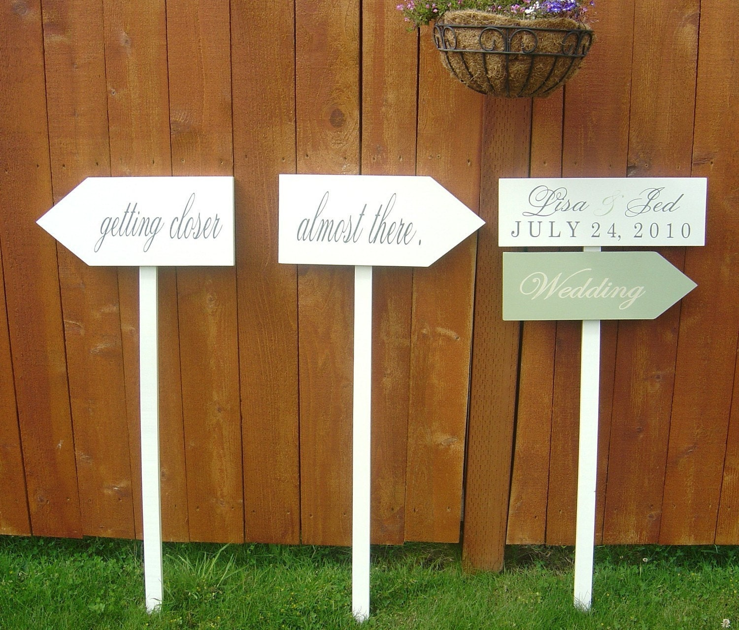 DIY Wedding Sign Kit.....Solid Wood Unpainted Set Of 3 Signs