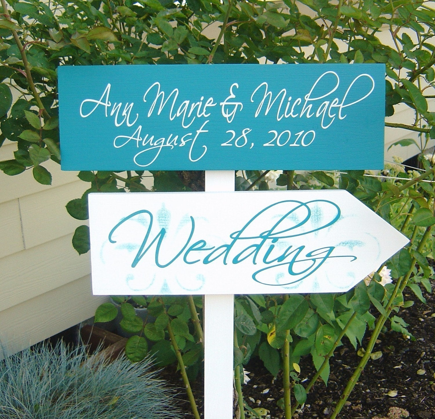 Personalized Wedding Signs With Damask. By OurHobbyToYourHome