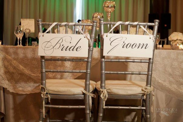 Wedding Signs Bride And Groom Chair Or Thank You