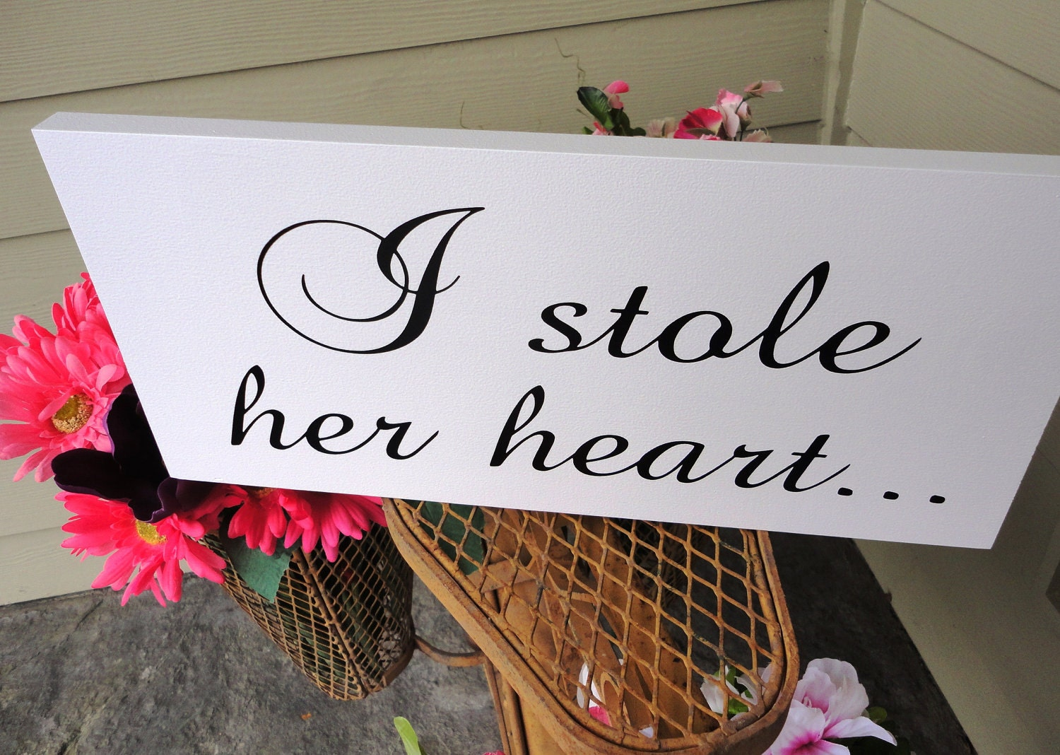 Engagement Announcement Signs I Stole Her By