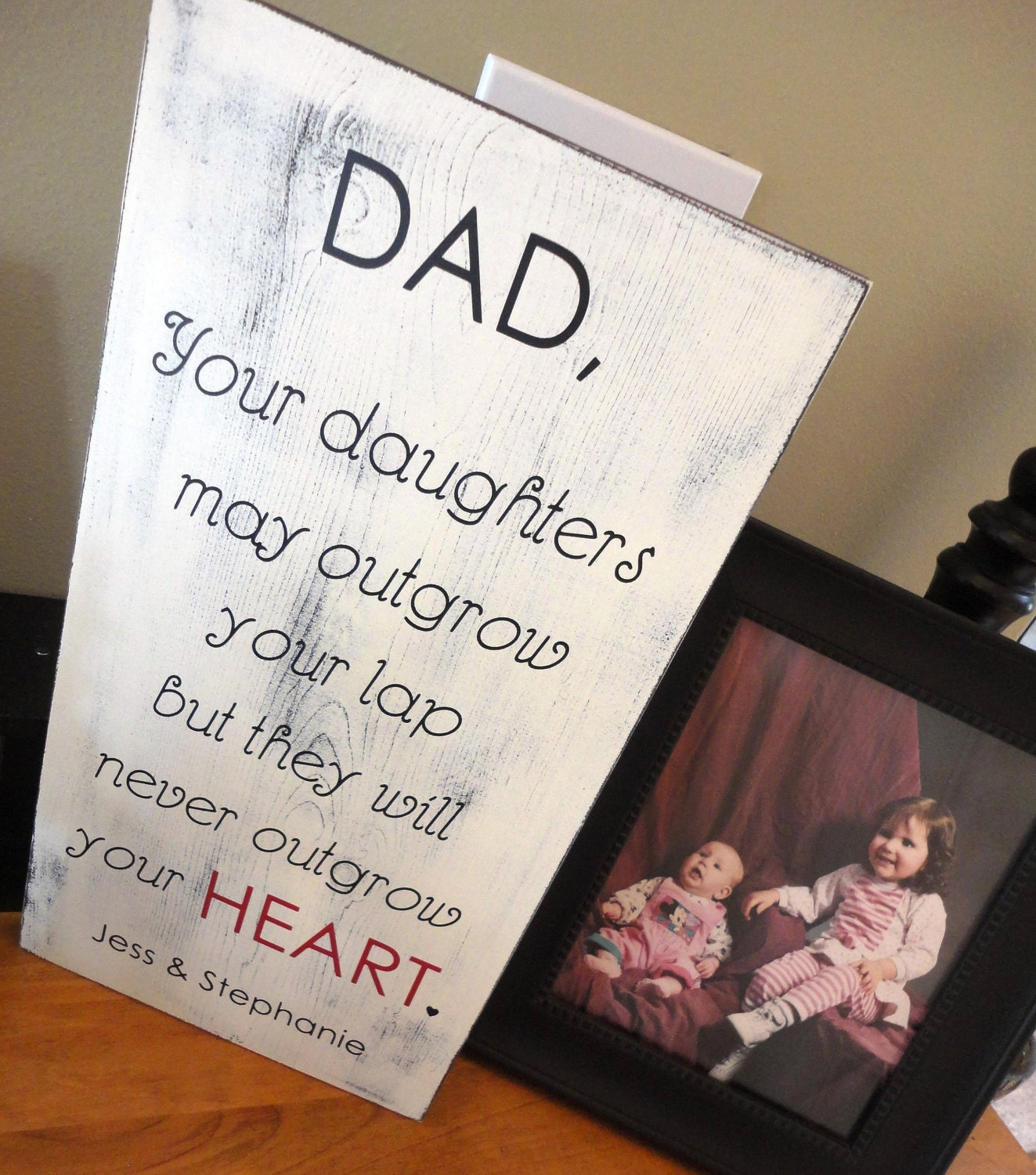 Rustic Father's Day Sign Birthday Sign I Love You Sign