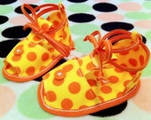 little Tootsies Orange Polka Dot