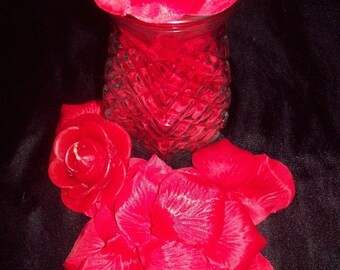 50 Piece - Handmade Bath/Kitchen Red Rose Petal Soaps
