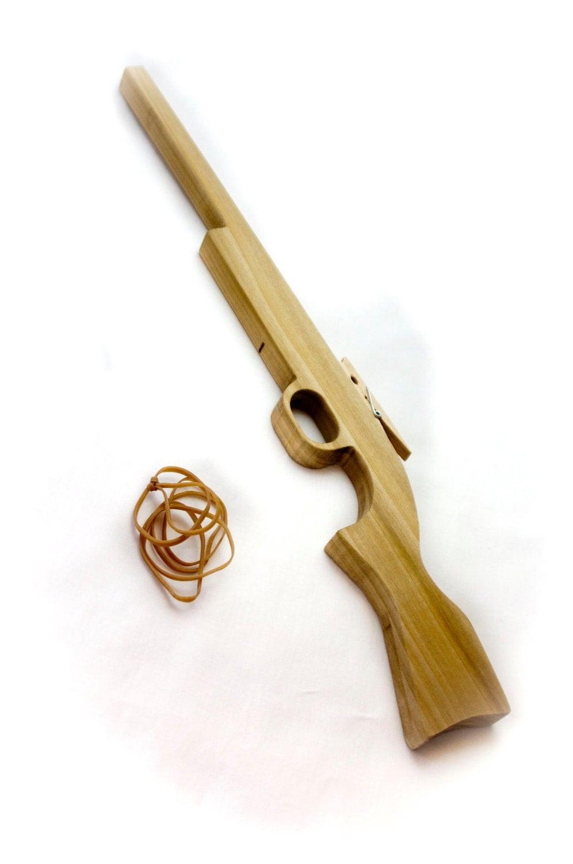 Wooden Rifle Rubber Band Gun