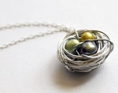 Pearl egg nest necklace