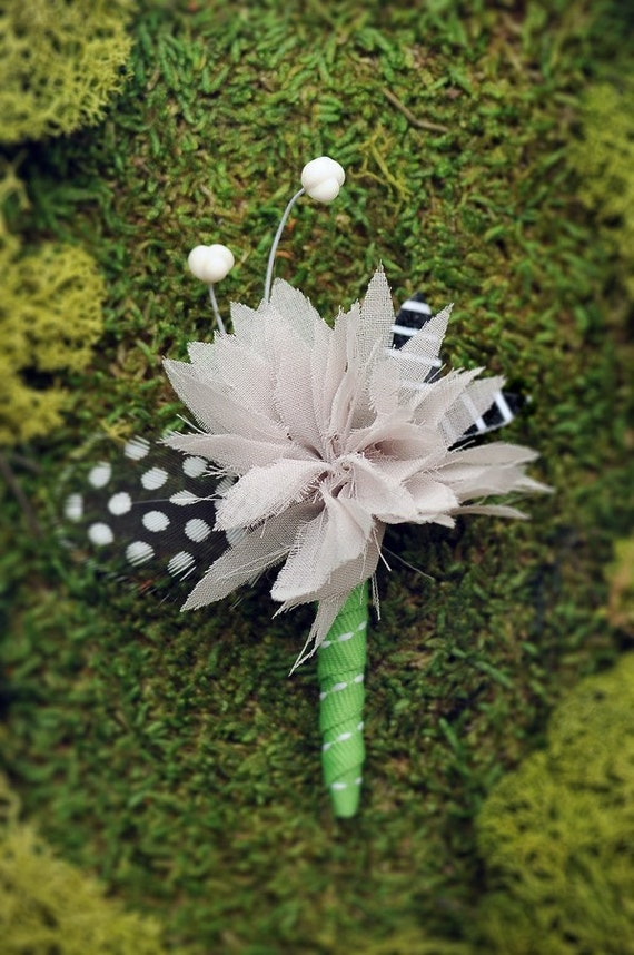 Green with Envy Boutonniere