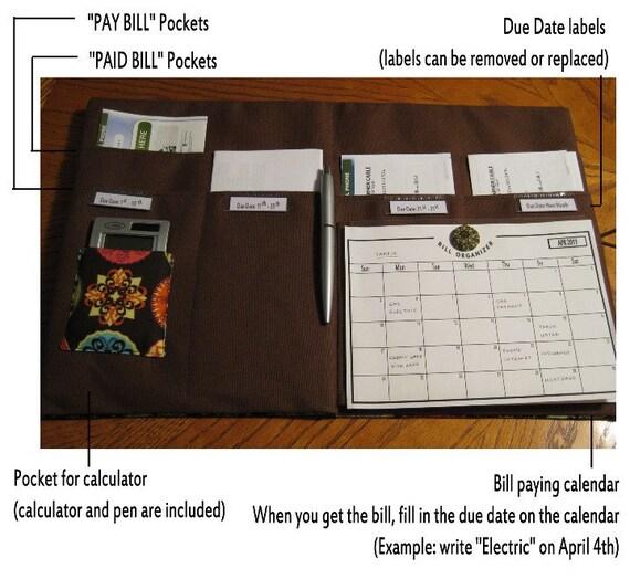 Bill Payment Calendar 2013 - Printable PDF