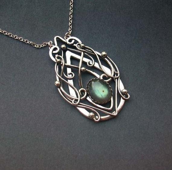 truly elvish labradorite pendant necklace sterling by