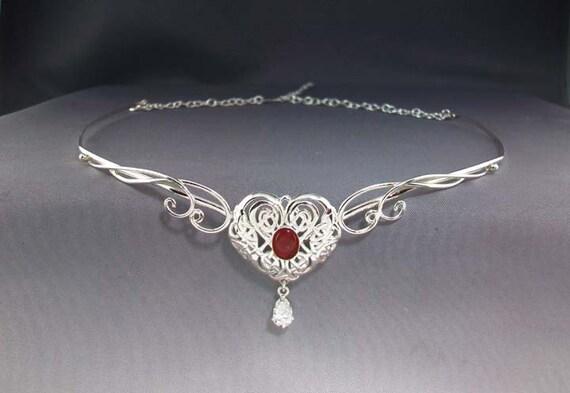 Celtic Heart circlet - celtic wedding - celtic headpiece - celtic tiara - celtic jewelry - wedding tiara - bridal tiara - bridal headpiece