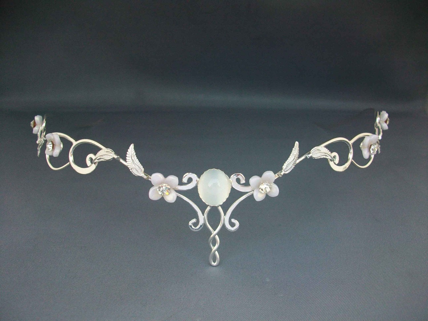Mae Bridal Tiara Crown Wedding Circlet Celtic By ElnaraNiall