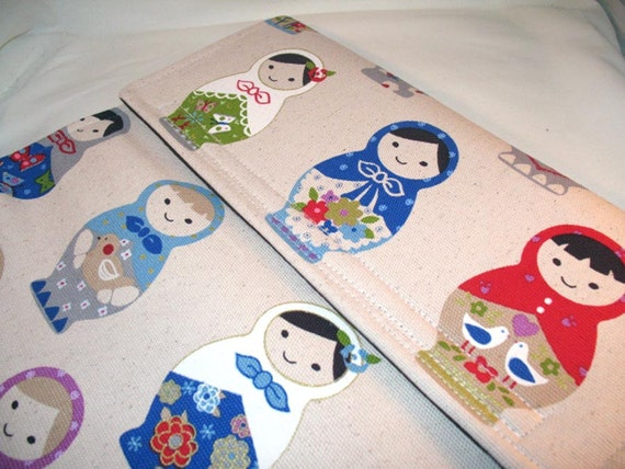 Reserved listing for sarahviall - Toshiba Laptop Sleeve - Matryoshka Dolls