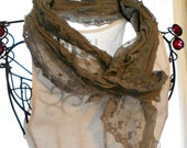 Vintage style rustic Lace Scarf Womens delicate scarves Womens accessories Farmhouse chic Mori girl Gray wrap
