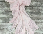 Romantic ruffle sash, country chic belt, Wedding sash obi, blush belt, Gypsy cowgirl, Cottage chic, Spring wrap