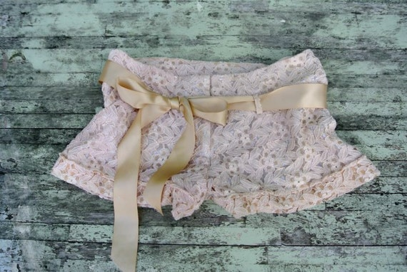 Reserved for AMcLaughlin1106 Sand Lace Shorts, Cottage chic ecru, french country lace, shabby chic, boho lace, romantic