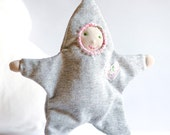 Baby Doll - All Natural Baby Toy - Gray Star - Ready to Ship
