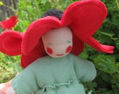 Waldorf Flower Doll - Miss Poppy Anemone - Made to Order