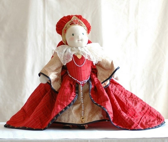 Waldorf Art Doll OOAK - Queen of Hearts - Ready to Ship